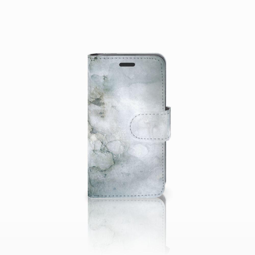Nokia Lumia 520 Uniek Boekhoesje Painting Grey