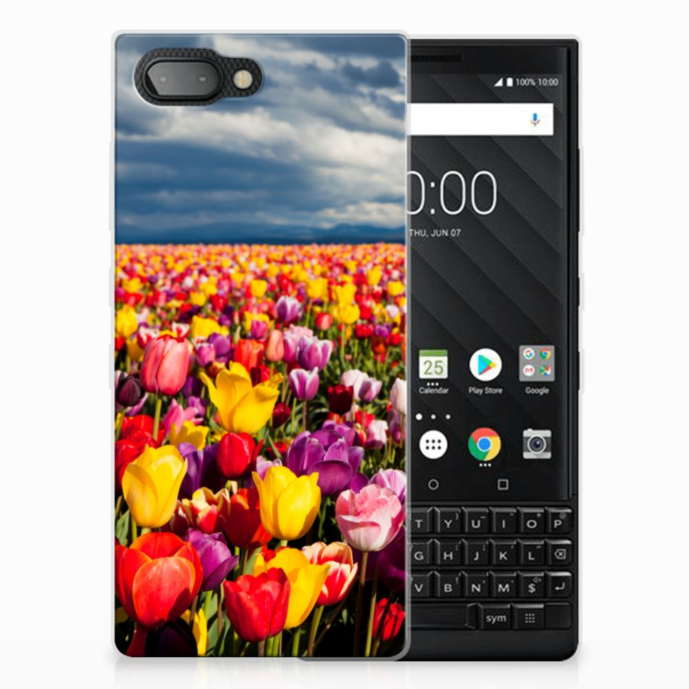 BlackBerry Key2 Uniek TPU Hoesje Tulpen