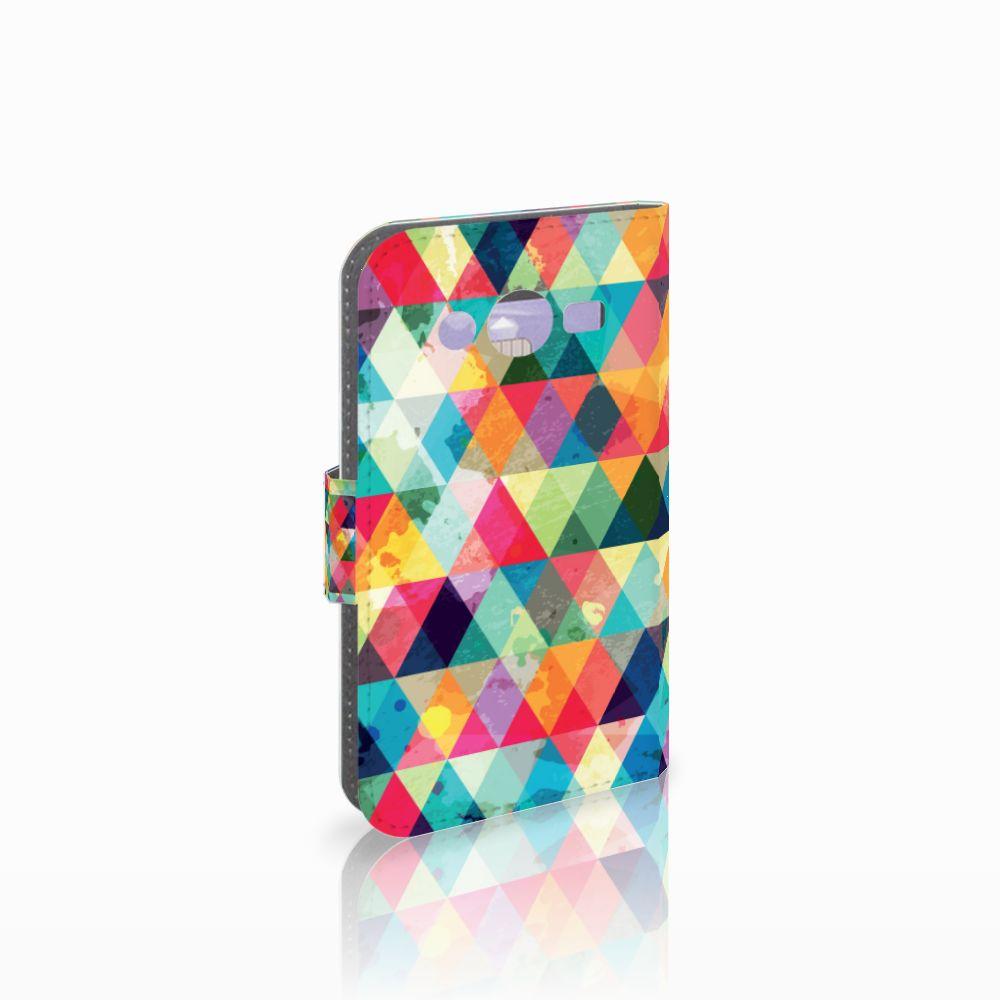 Samsung Galaxy Core 2 Telefoon Hoesje Geruit
