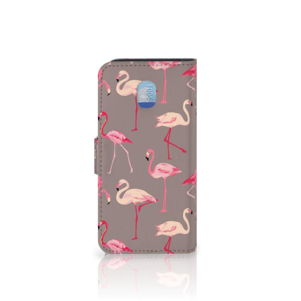 Samsung Galaxy J3 (2018) Telefoonhoesje met Pasjes Flamingo