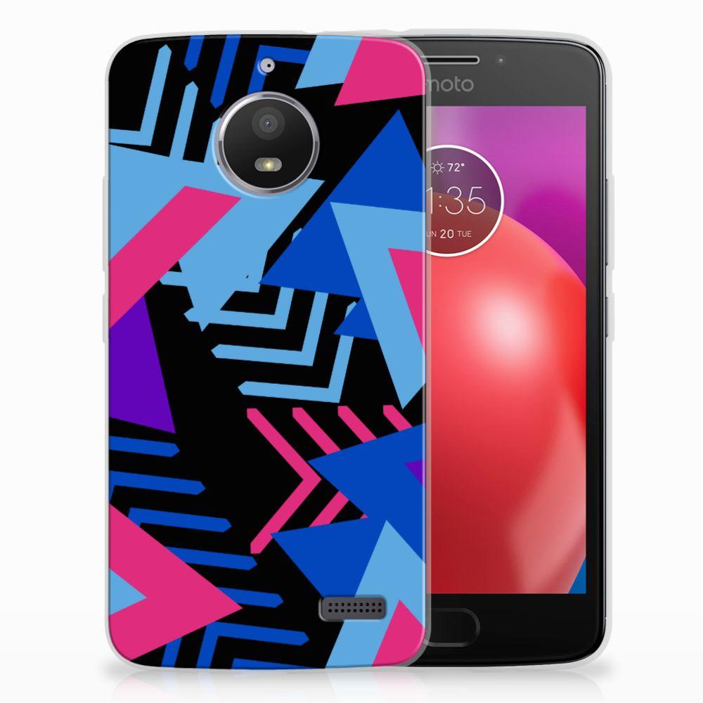 Motorola Moto E4 TPU Hoesje Funky Triangle