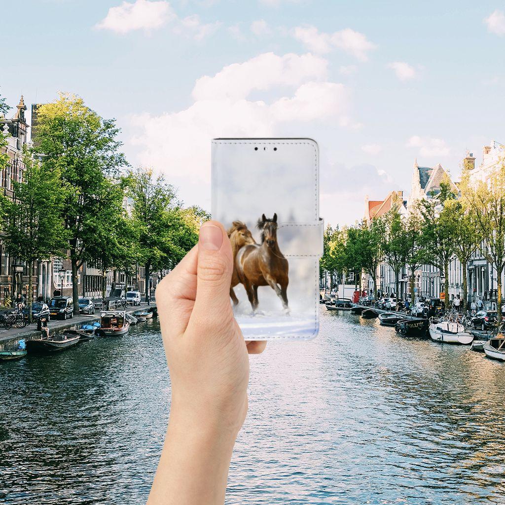 Huawei Y5 | Y6 2017 Telefoonhoesje met Pasjes Paarden