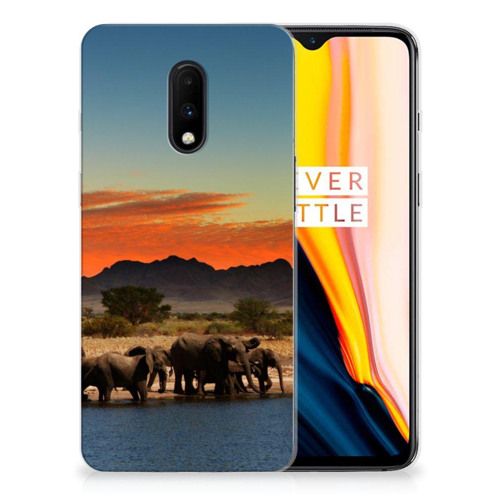 OnePlus 7 TPU Hoesje Olifanten