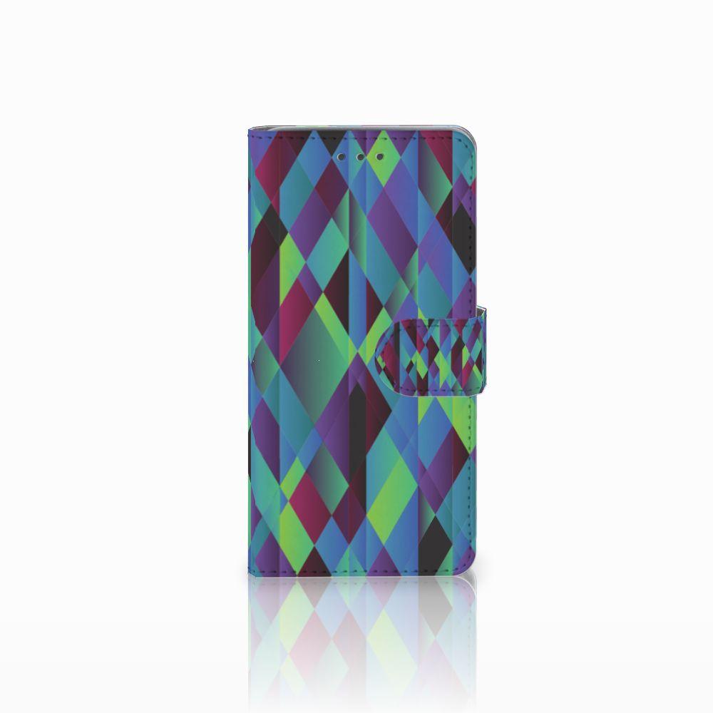 Wiko Lenny 2 Boekhoesje Design Abstract Green Blue