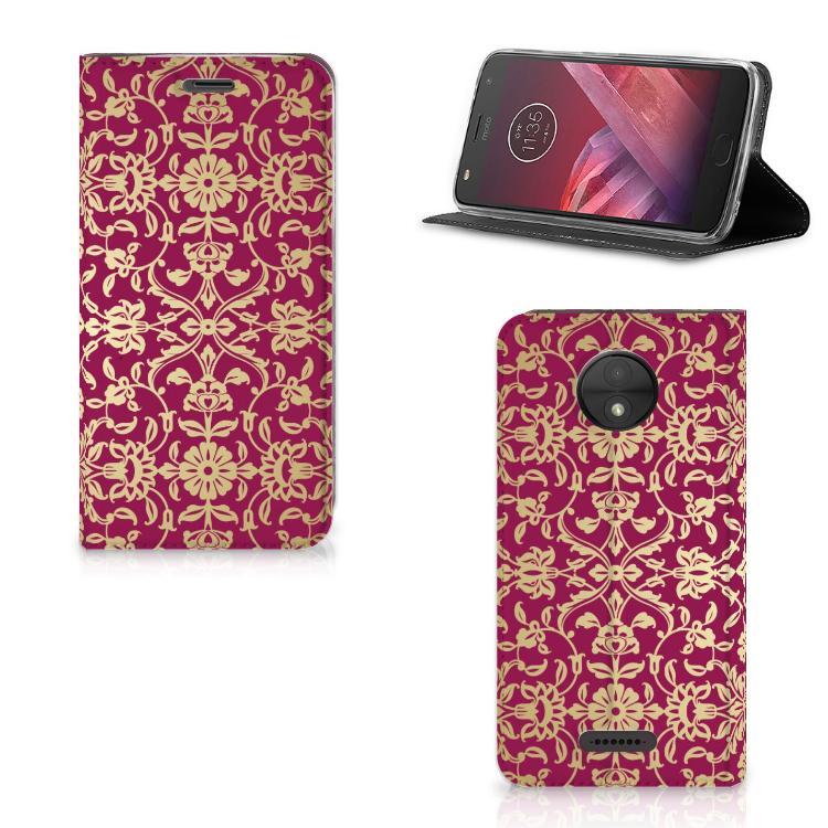 Telefoon Hoesje Motorola Moto C Barok Pink
