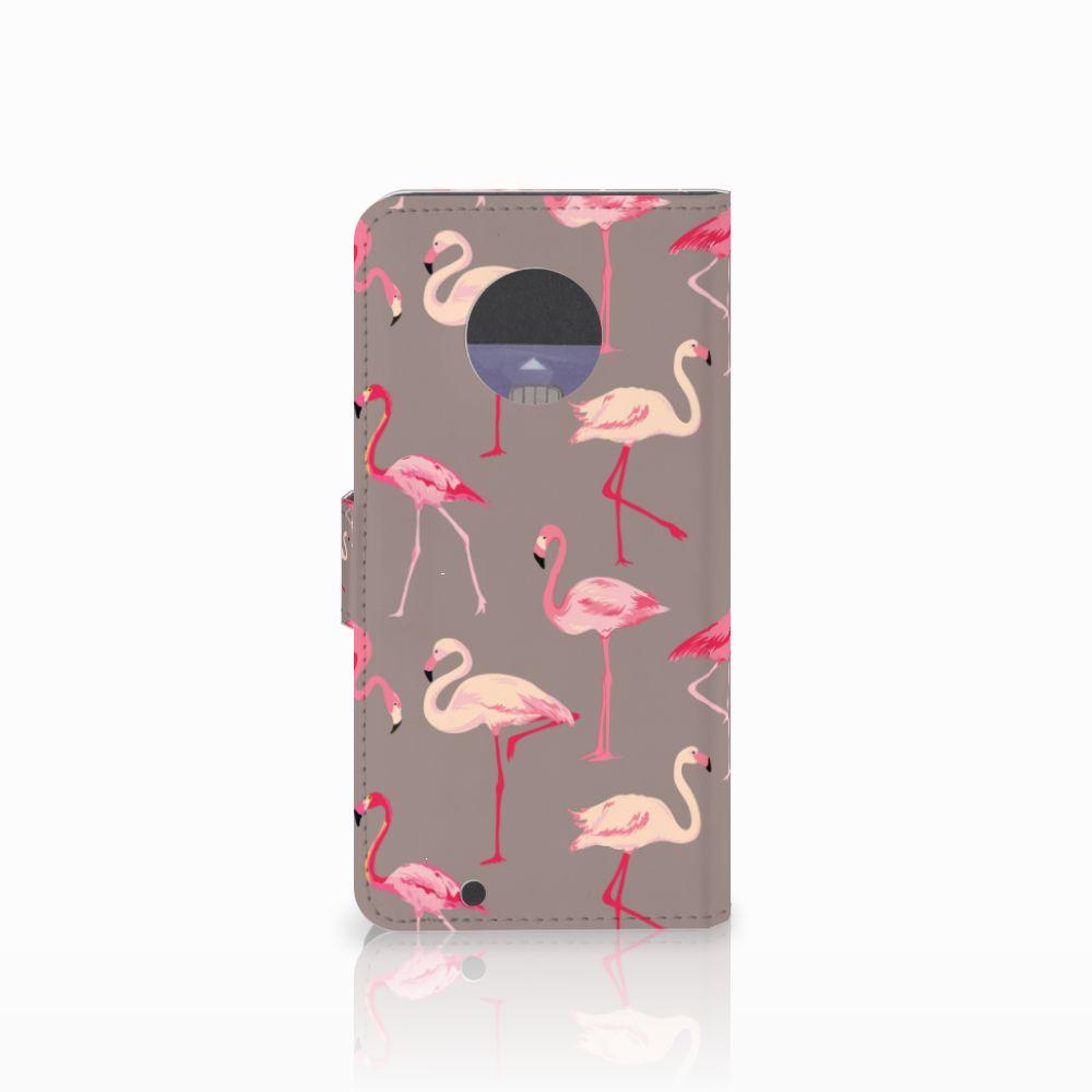 Motorola Moto G6 Telefoonhoesje met Pasjes Flamingo