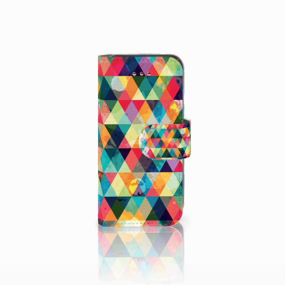 Apple iPhone 5C Uniek Boekhoesje Geruit