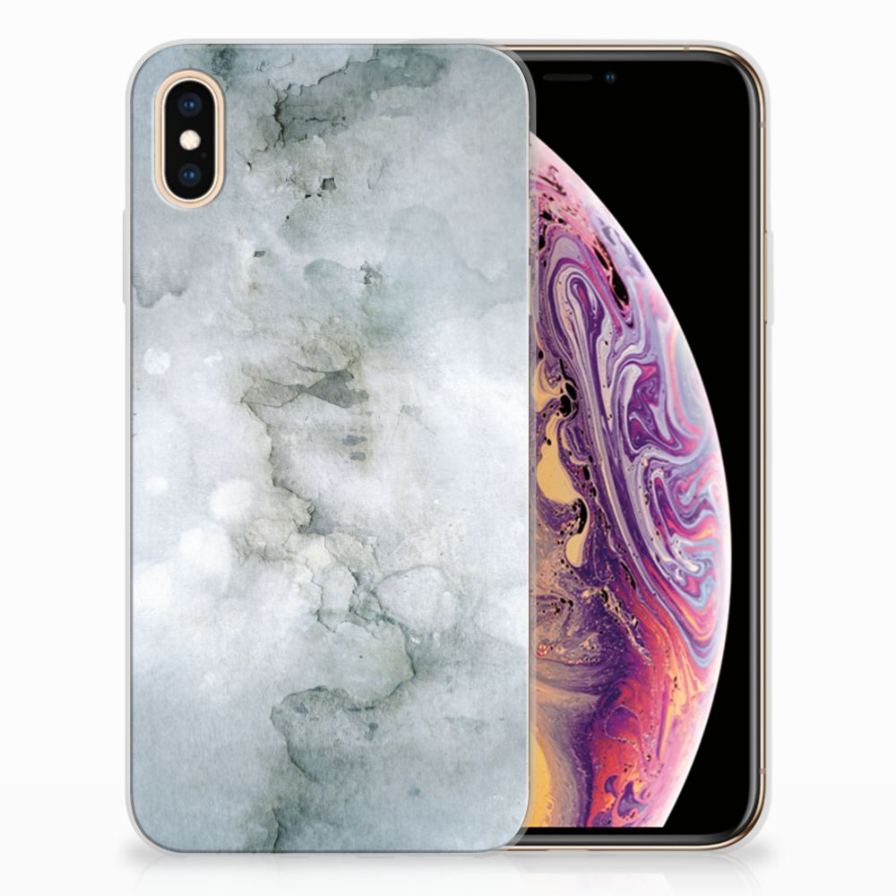 Apple iPhone Xs Max Uniek TPU Hoesje Painting Grey