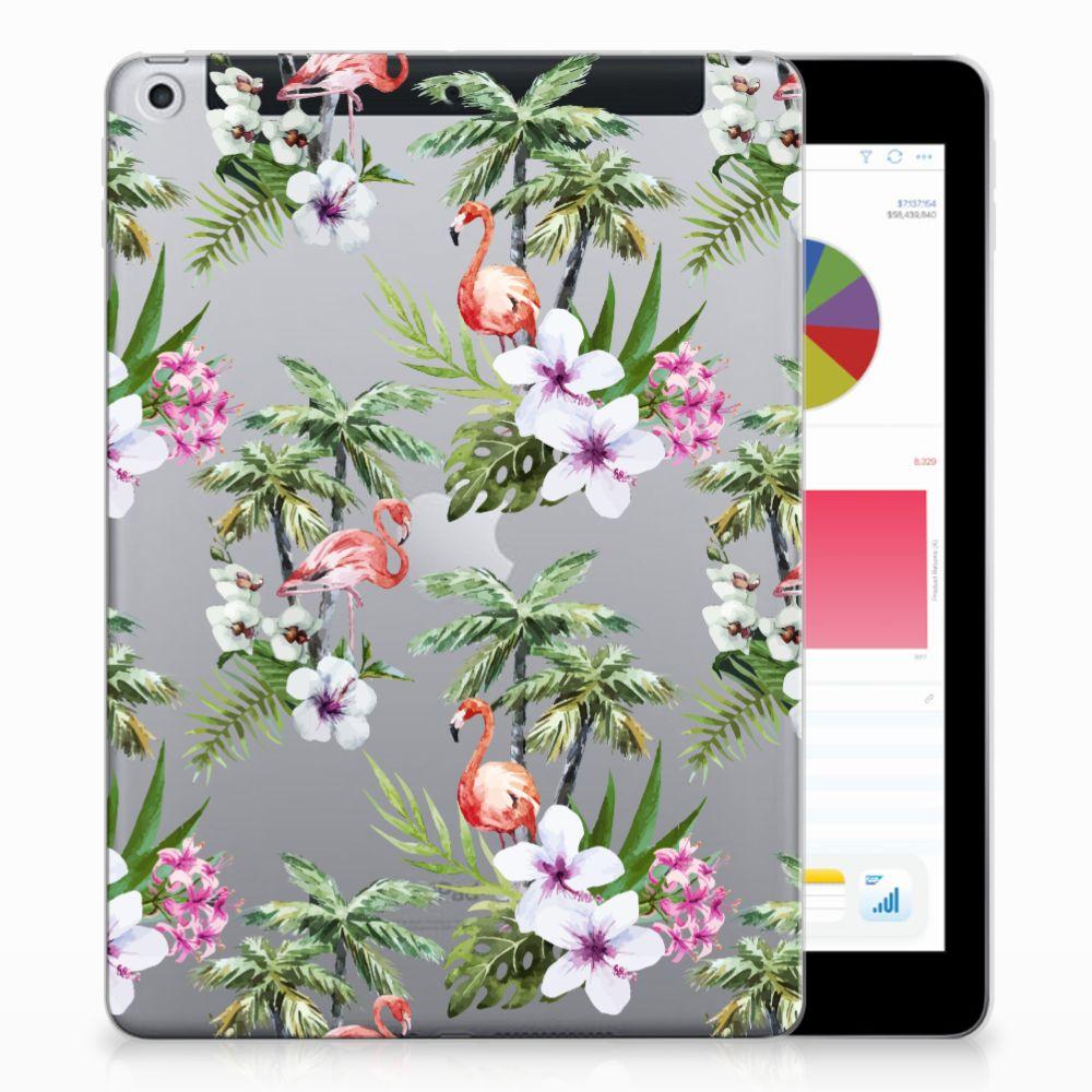 Apple iPad 9.7 2018   2017 Back Case Flamingo Palms