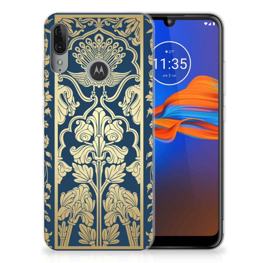 Motorola Moto E6 Plus TPU Case Golden Flowers