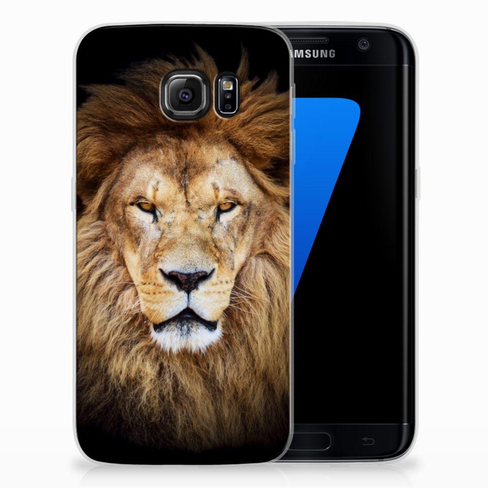 Samsung Galaxy S7 Edge TPU Hoesje Leeuw