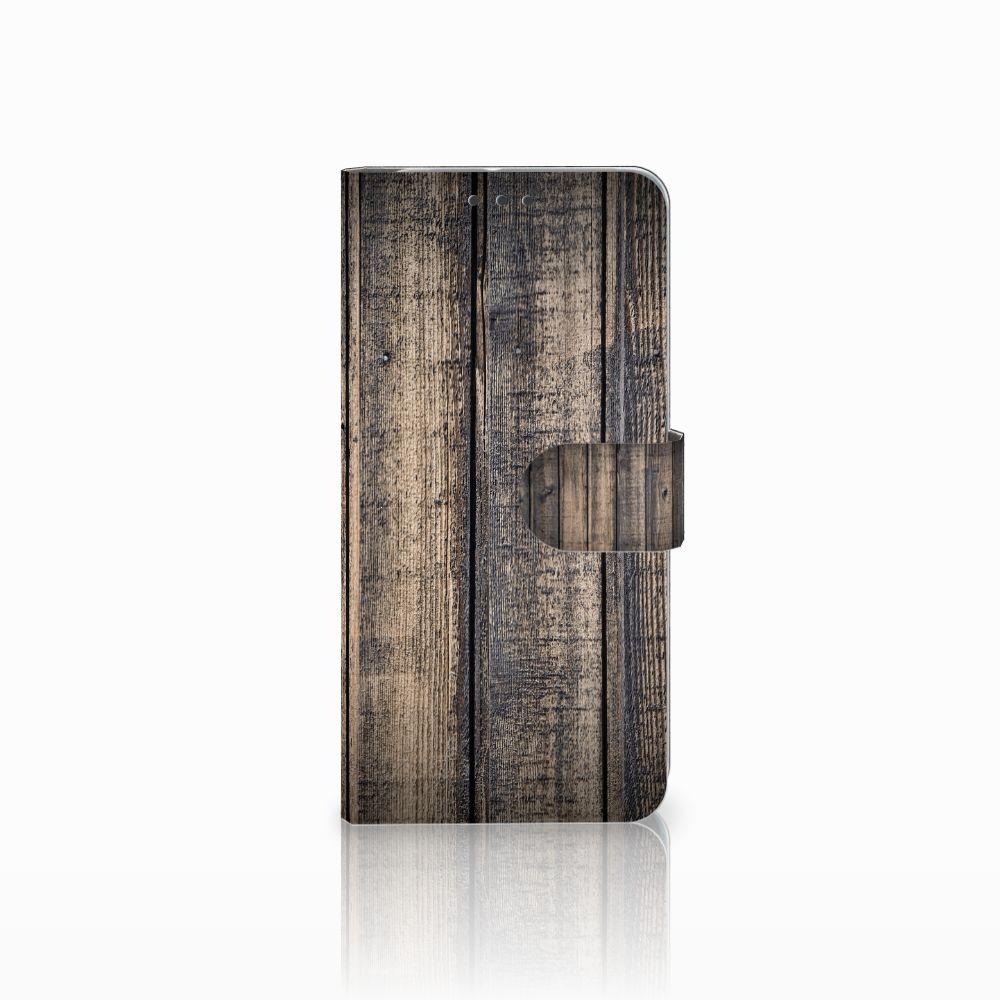 HTC U11 Plus Book Style Case Steigerhout