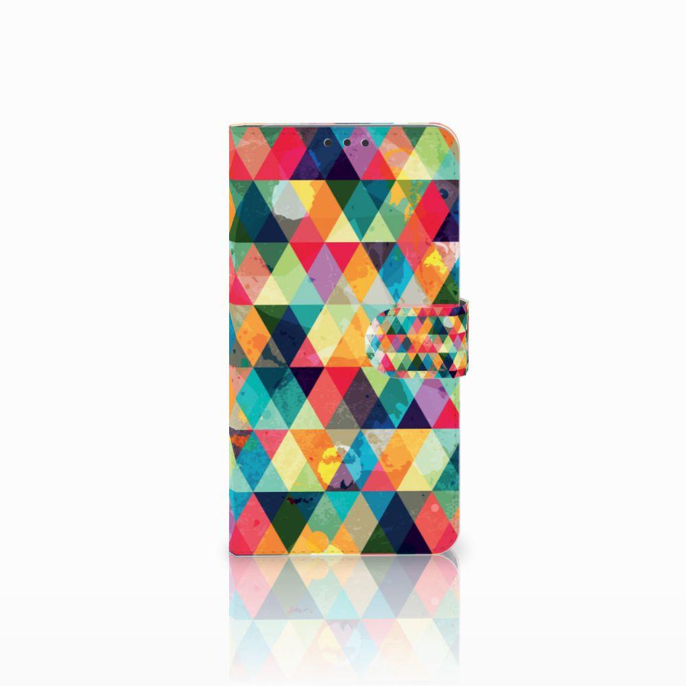 Microsoft Lumia 640 XL Uniek Boekhoesje Geruit