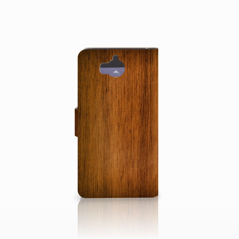 Huawei Y5 | Y6 2017 Book Style Case Donker Hout