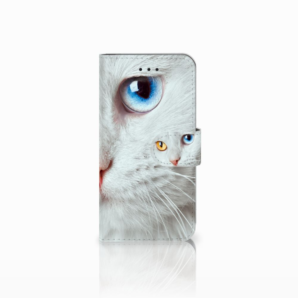 Apple iPhone X | Xs Uniek Boekhoesje Witte Kat
