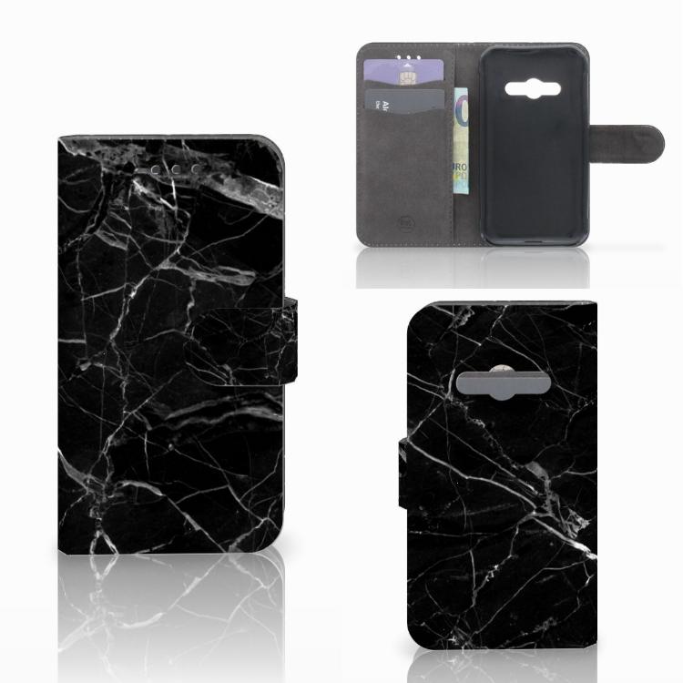 Samsung Galaxy Xcover 3 | Xcover 3 VE Bookcase Marmer Zwart