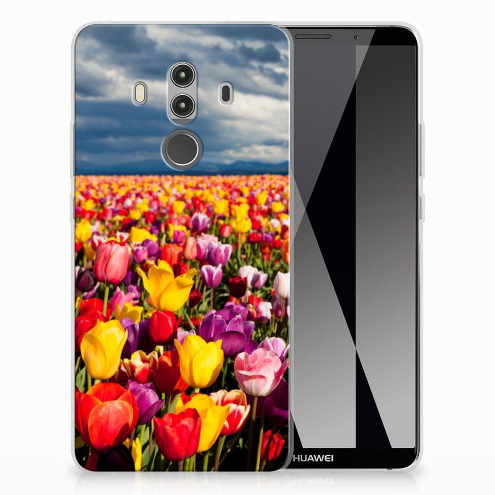 Huawei Mate 10 Pro Uniek TPU Hoesje Tulpen