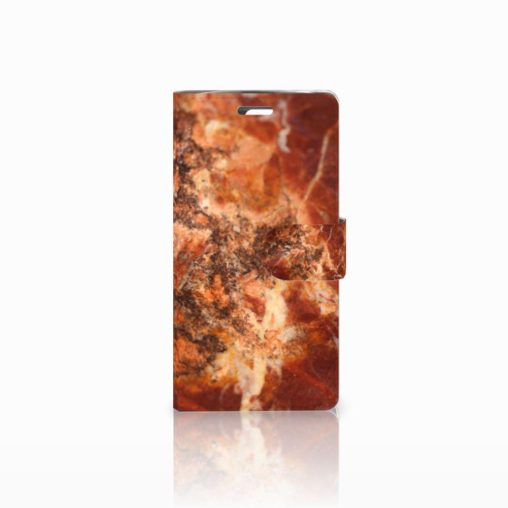 LG K10 2015 Boekhoesje Design Marmer Bruin