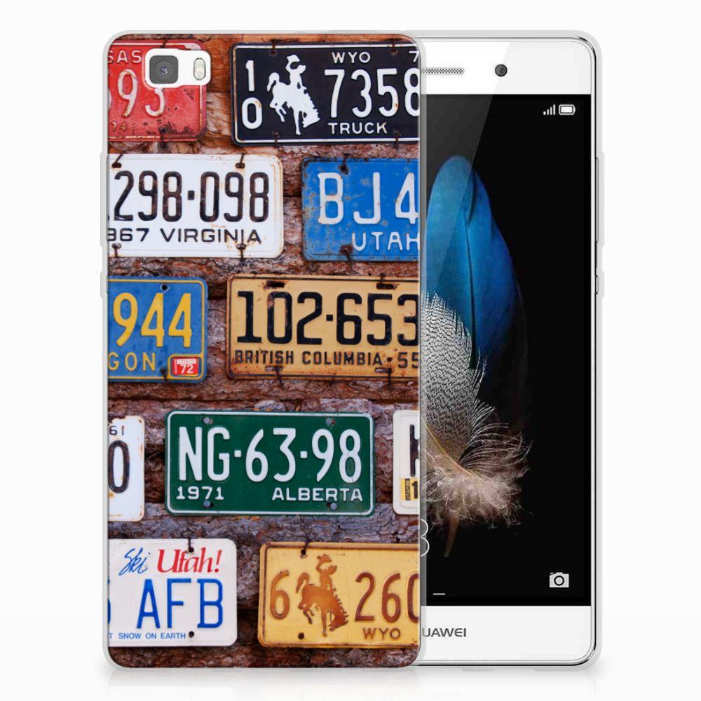 Huawei Ascend P8 Lite Uniek TPU Hoesje Kentekenplaten