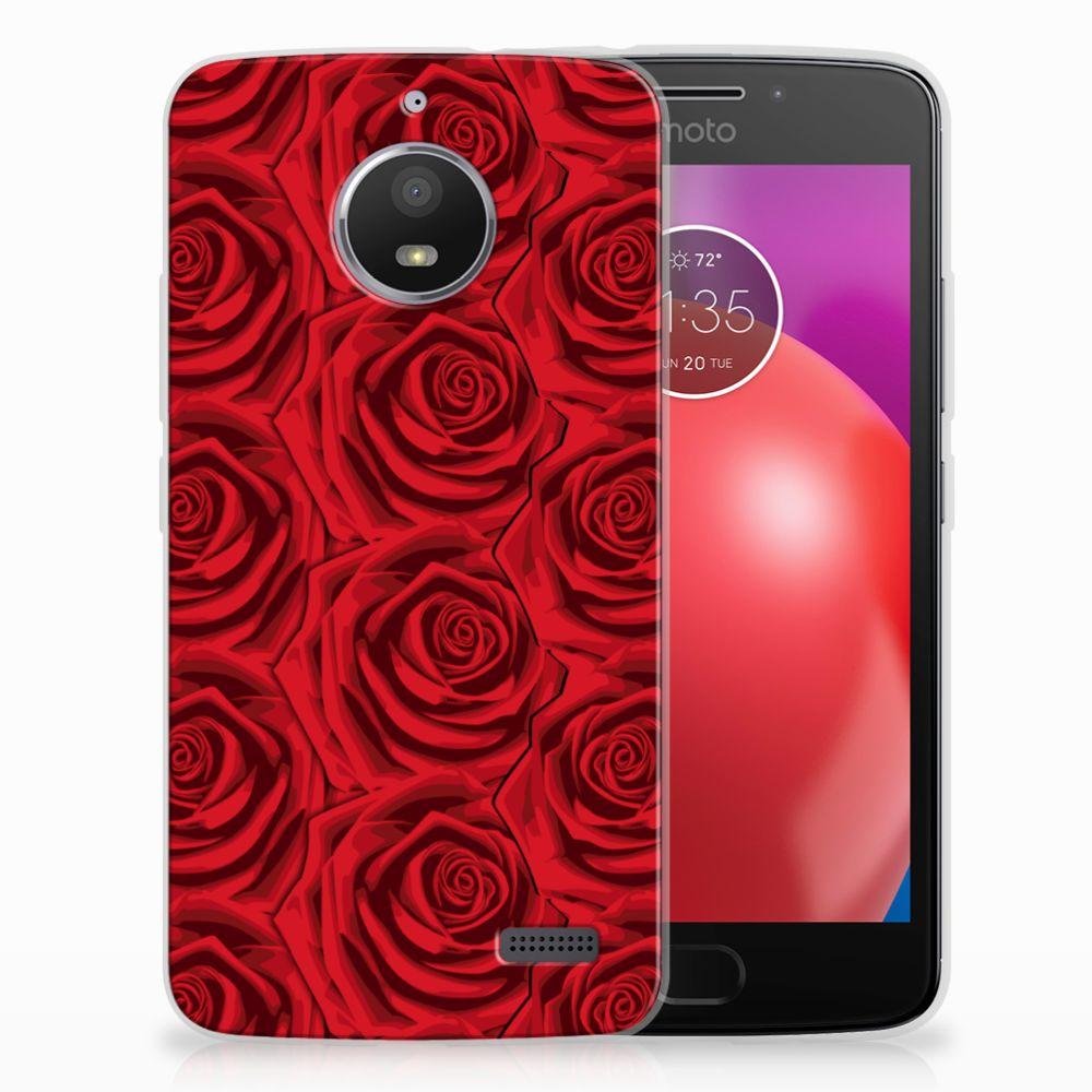 Motorola Moto E4 Uniek TPU Hoesje Red Roses