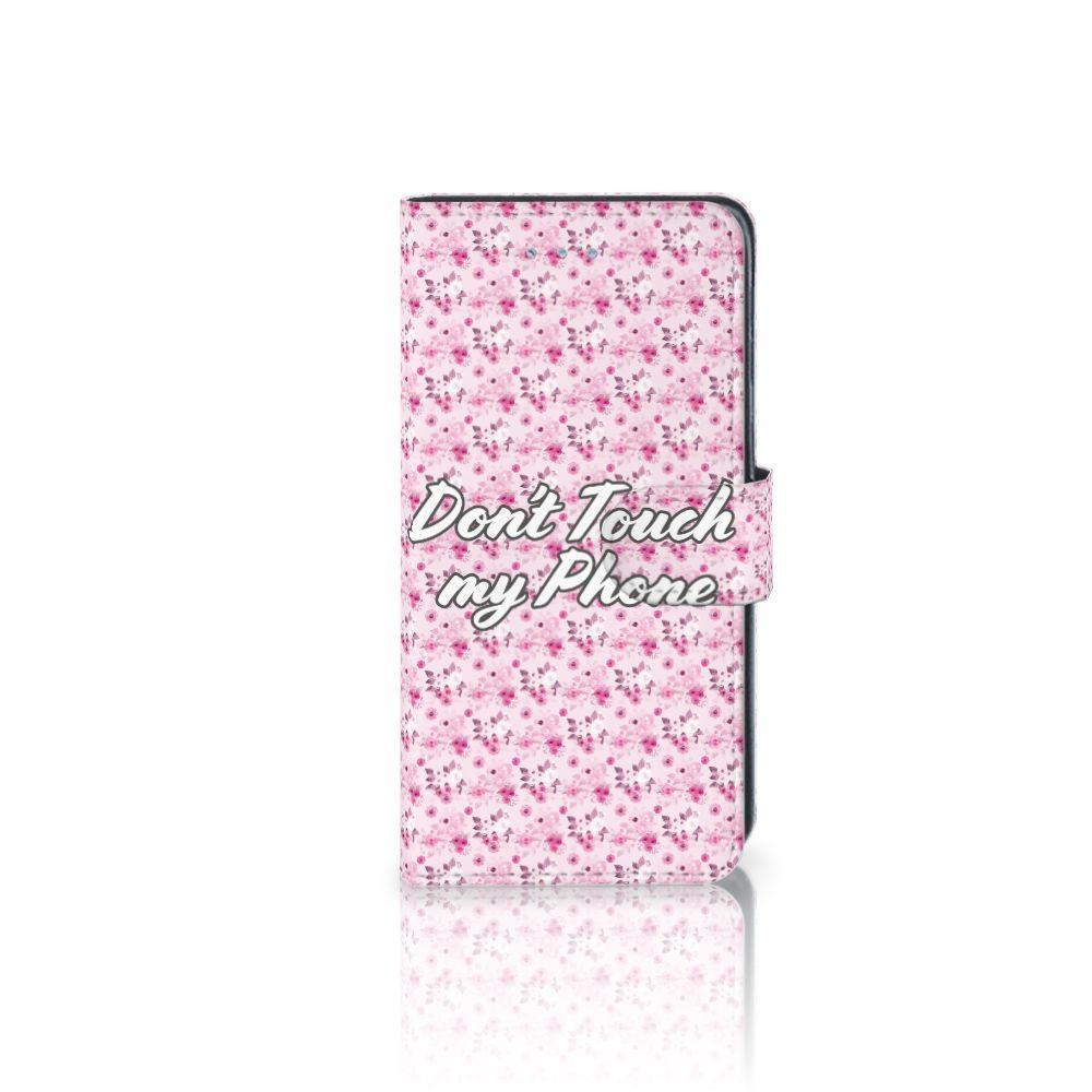 Samsung Galaxy J3 2016 Uniek Boekhoesje Flowers Pink DTMP