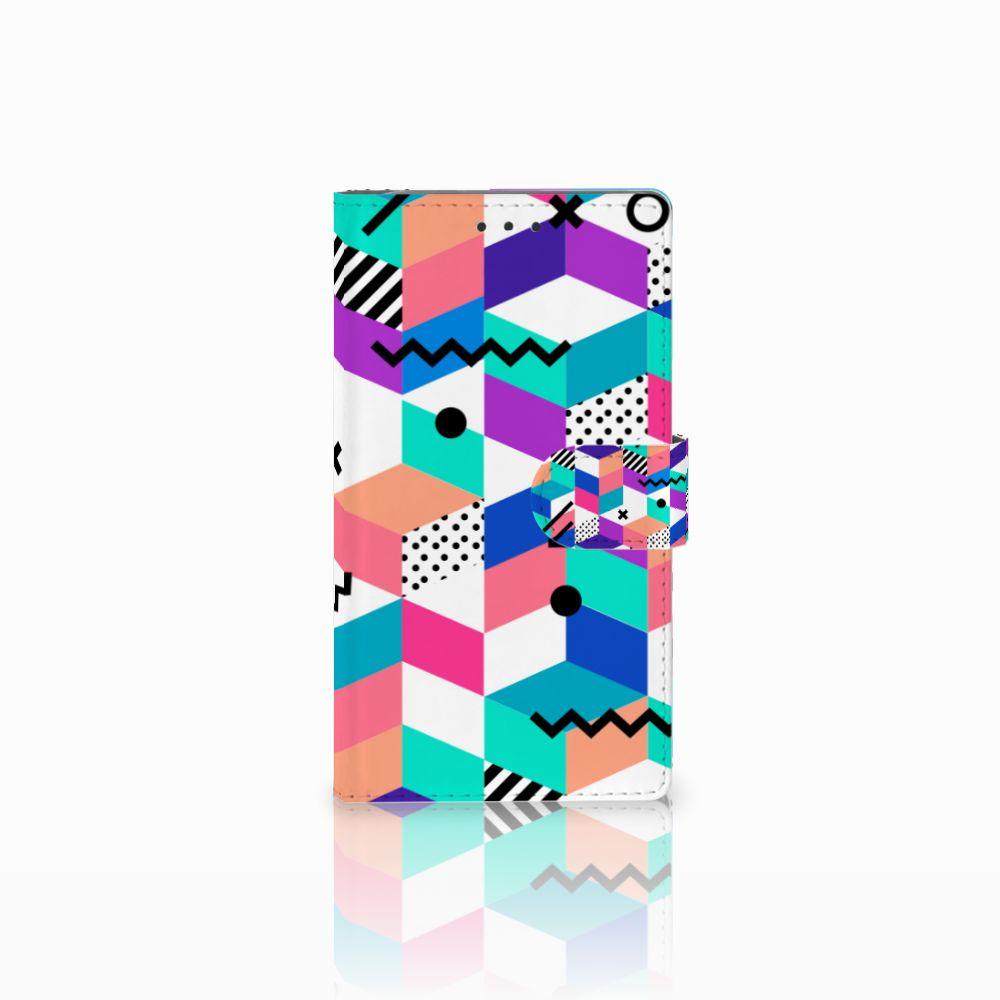 Samsung Galaxy Note 3 Bookcase Blokken Kleurrijk