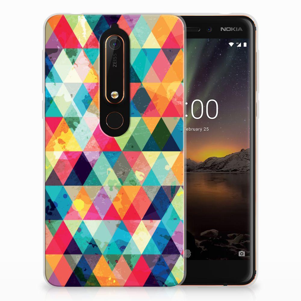 Nokia 6 (2018) Uniek TPU Hoesje Geruit