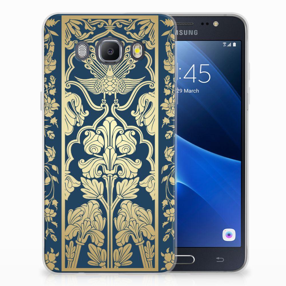 Samsung Galaxy J5 2016 TPU Hoesje Golden Flowers