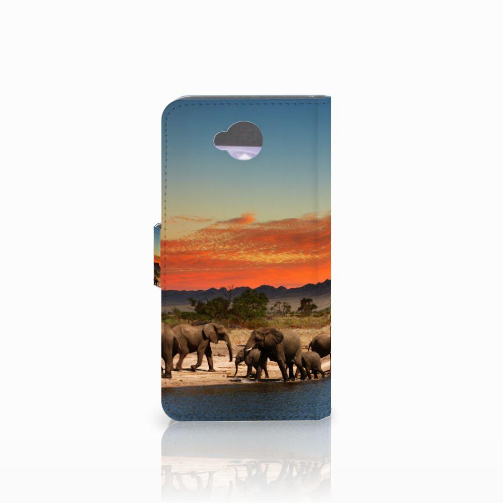 Microsoft Lumia 650 Telefoonhoesje met Pasjes Olifanten