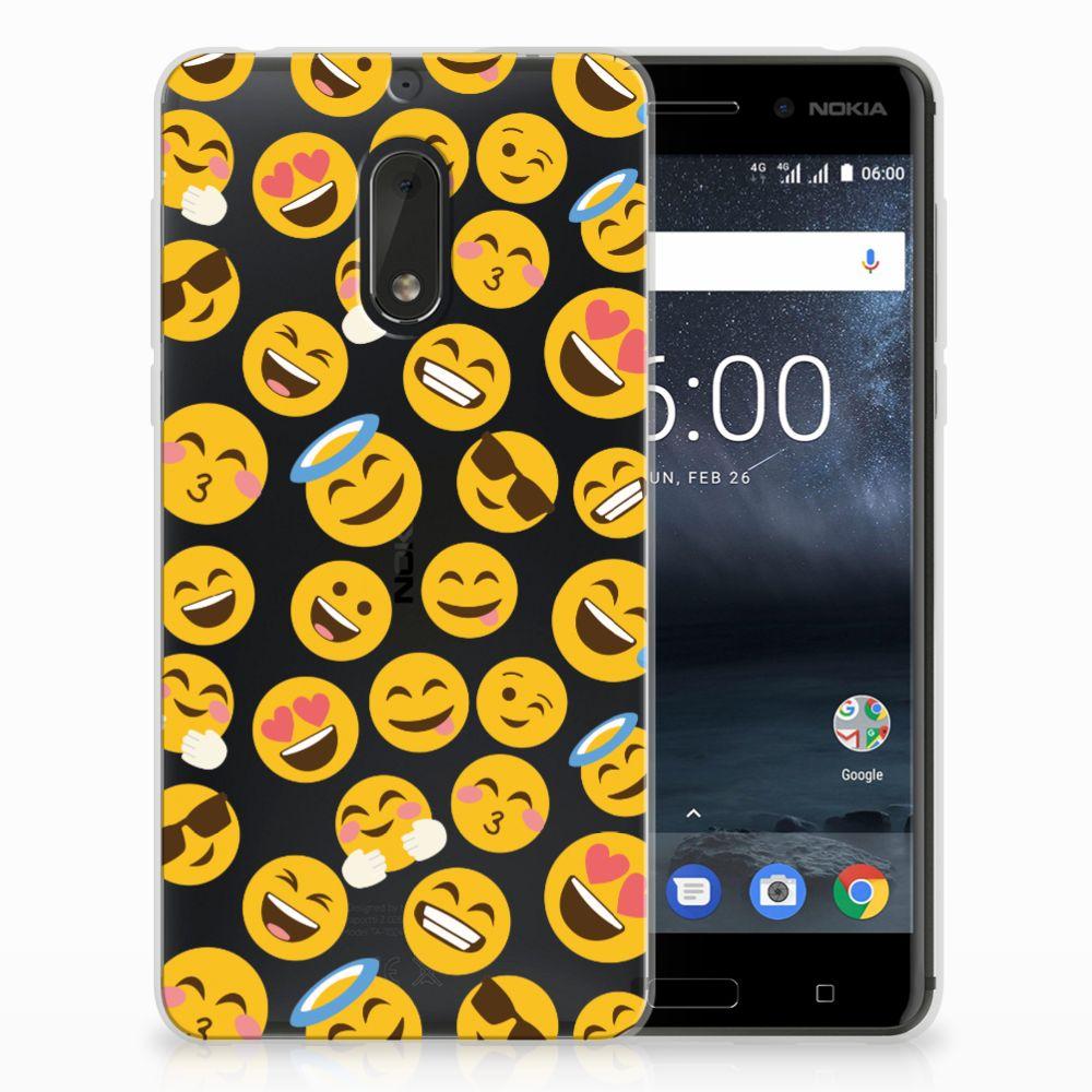 Nokia 6 TPU Hoesje Design Emoji
