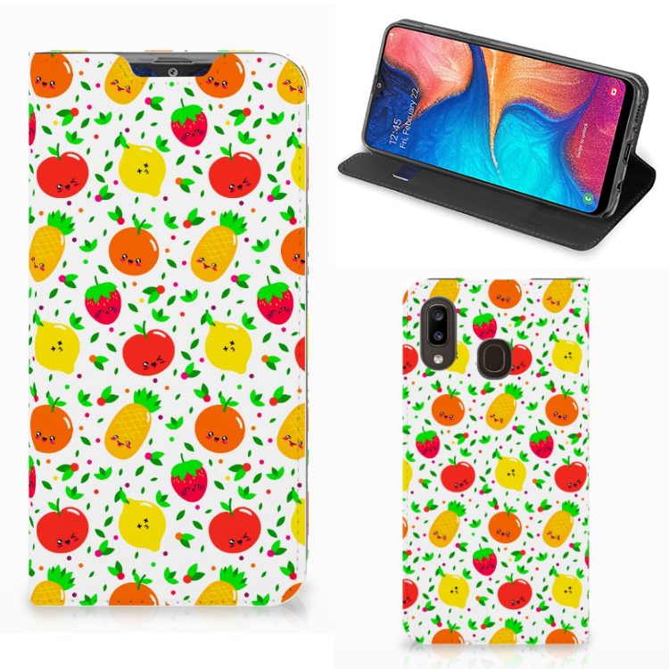 Samsung Galaxy A30 Flip Style Cover Fruits