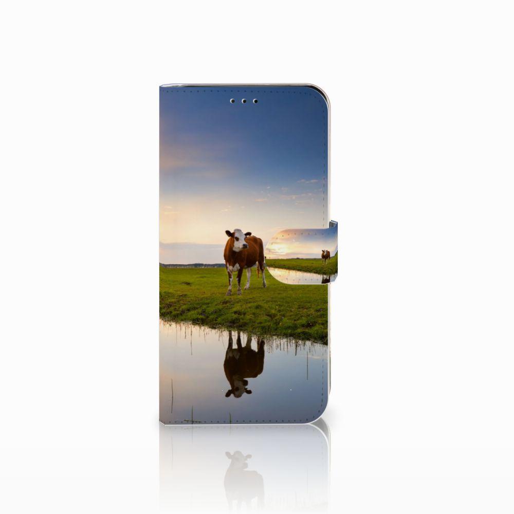 Samsung Galaxy A7 (2018) Boekhoesje Design Koe