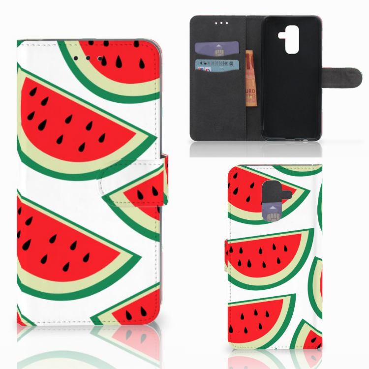 Samsung Galaxy A6 Plus 2018 Book Cover Watermelons
