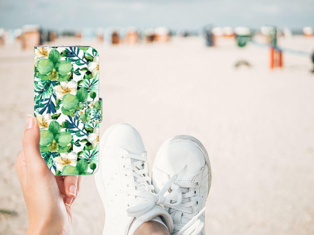Samsung Galaxy J5 2017 Hoesje Orchidee Groen