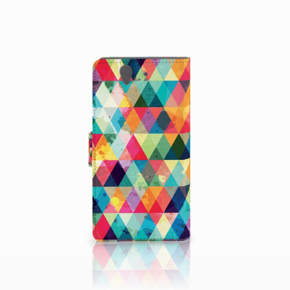 Sony Xperia Z Telefoon Hoesje Geruit