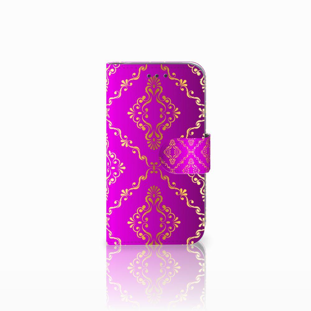 Wallet Case Samsung Galaxy Core Prime Barok Roze