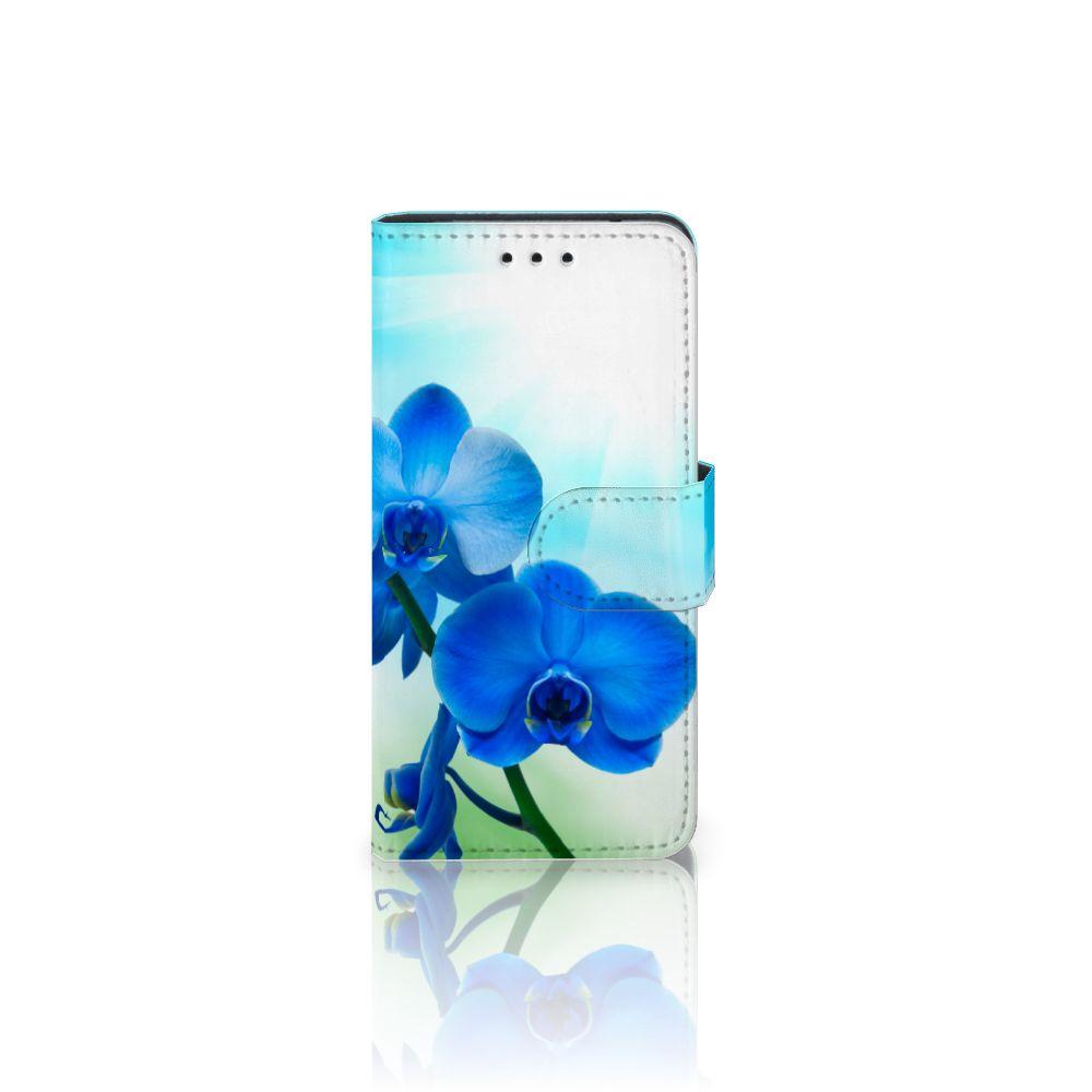 Samsung Galaxy S5 Mini Boekhoesje Design Orchidee Blauw