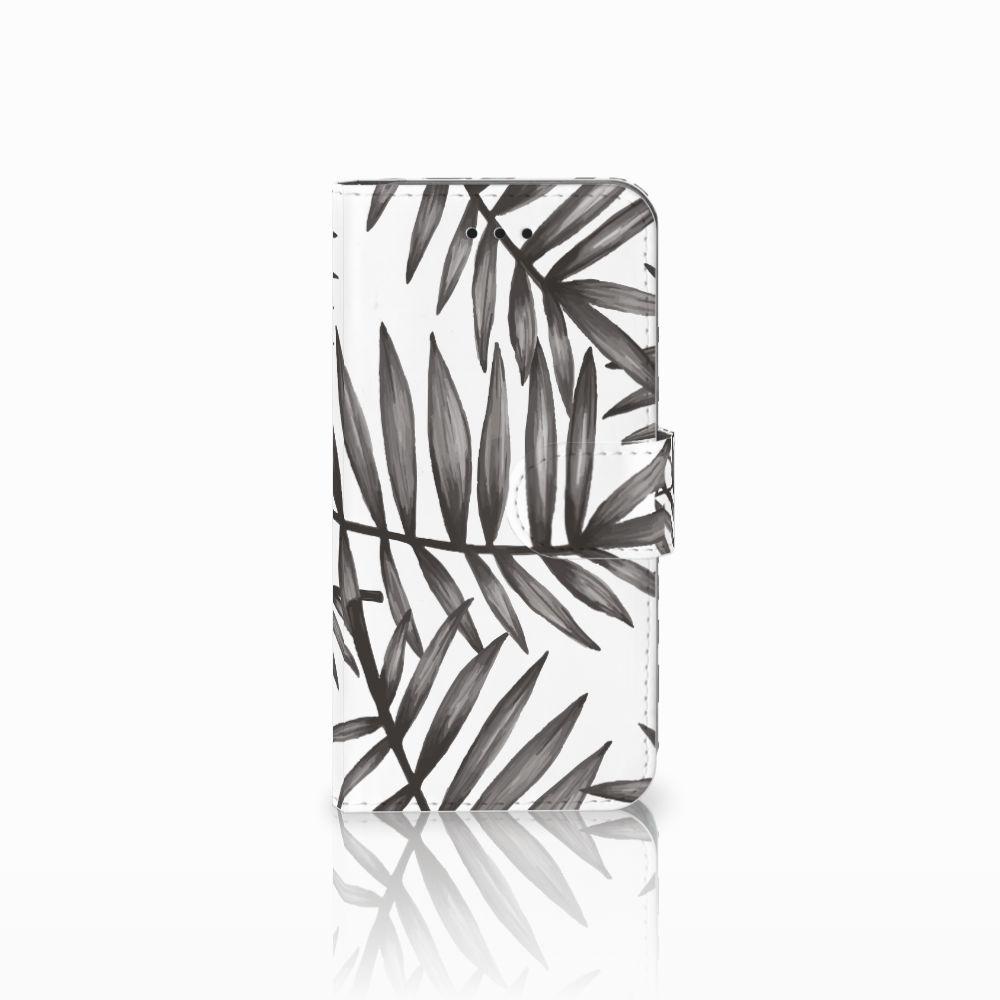 Apple iPhone X | Xs Uniek Boekhoesje Leaves Grey