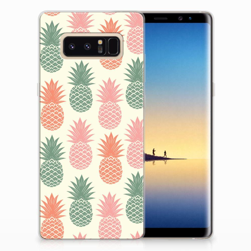 Samsung Galaxy Note 8 Siliconen Case Ananas