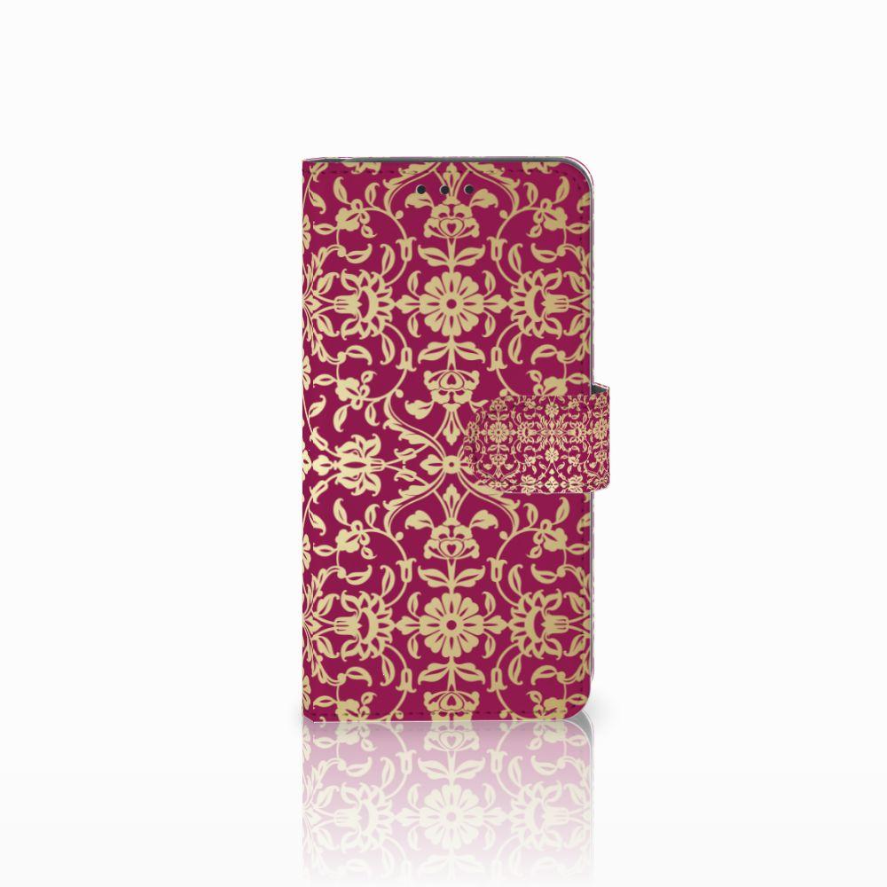Samsung Galaxy A8 2018 Boekhoesje Design Barok Pink