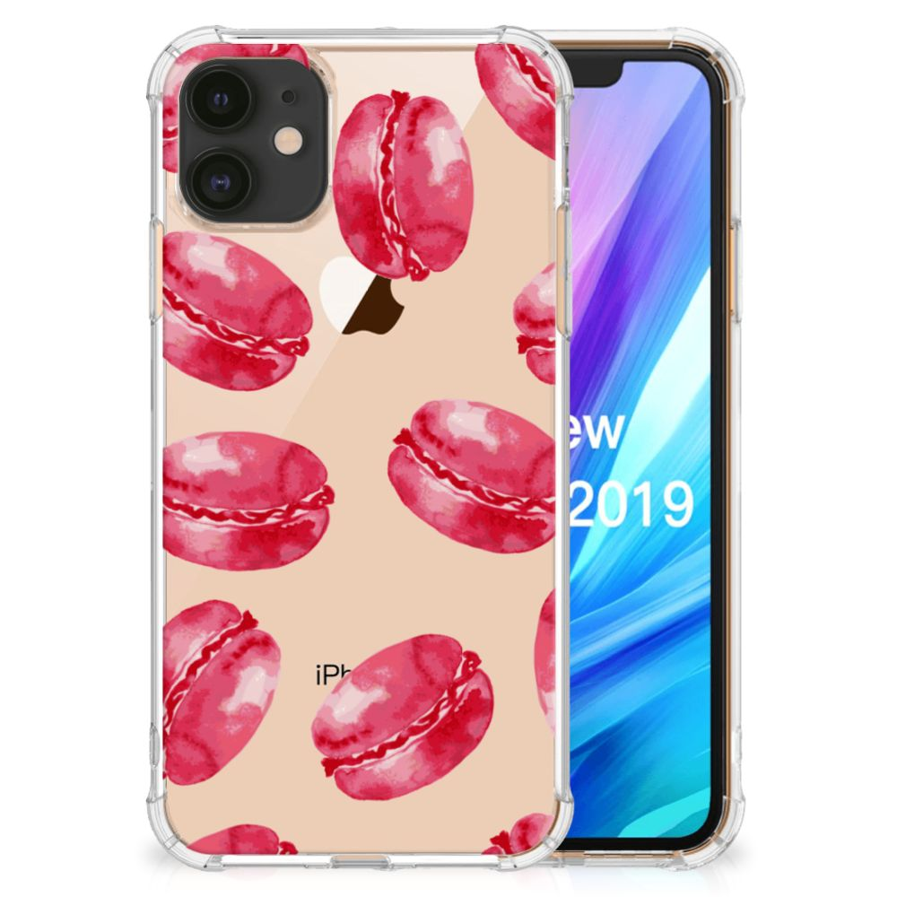 Apple iPhone 11 Beschermhoes Pink Macarons