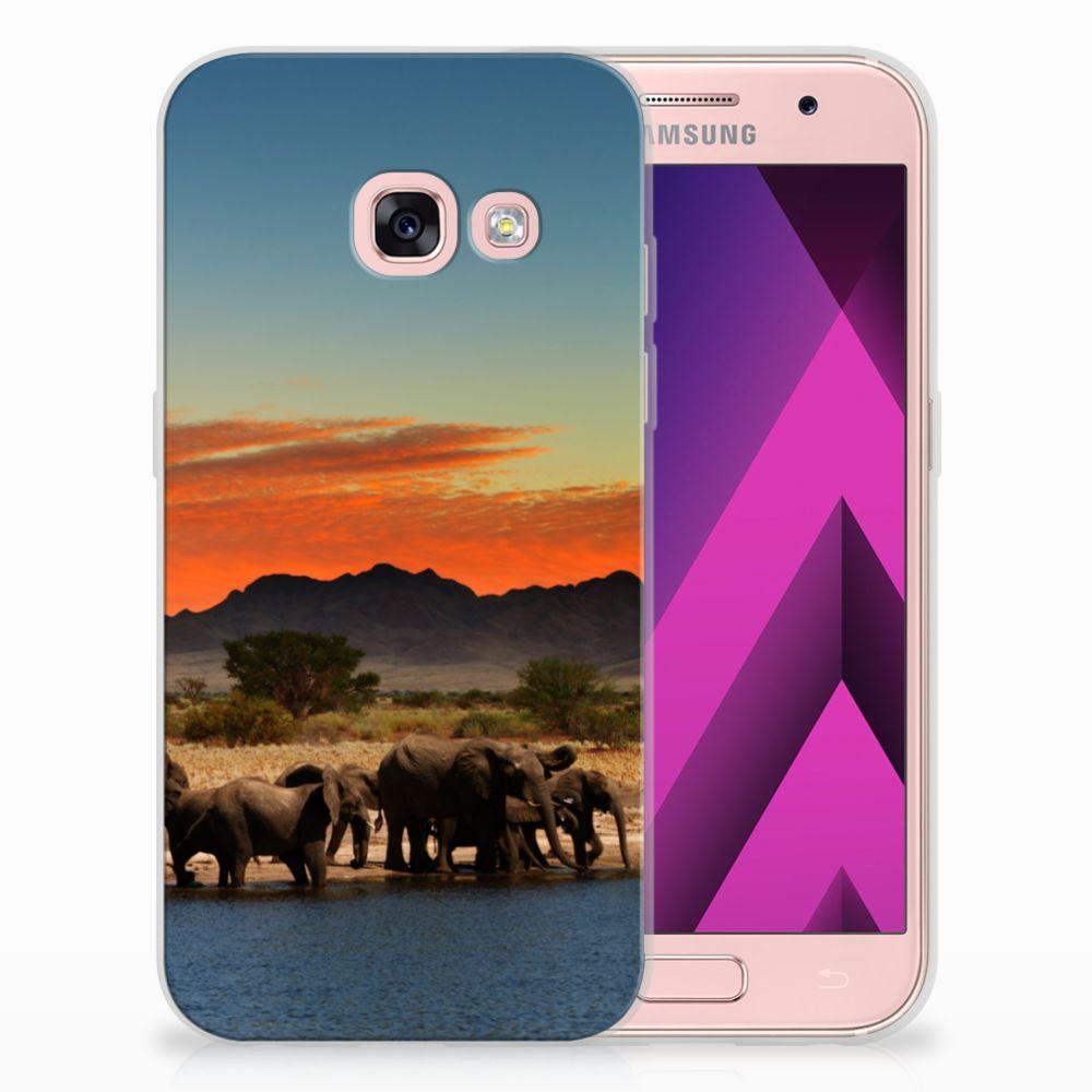 Samsung Galaxy A3 2017 TPU Hoesje Design Olifanten