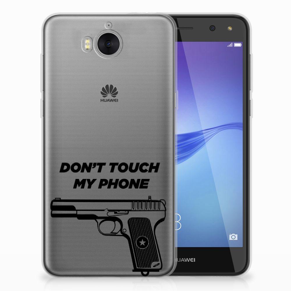 Huawei Y5 2017   Y6 2017 Uniek TPU Hoesje Pistol DTMP