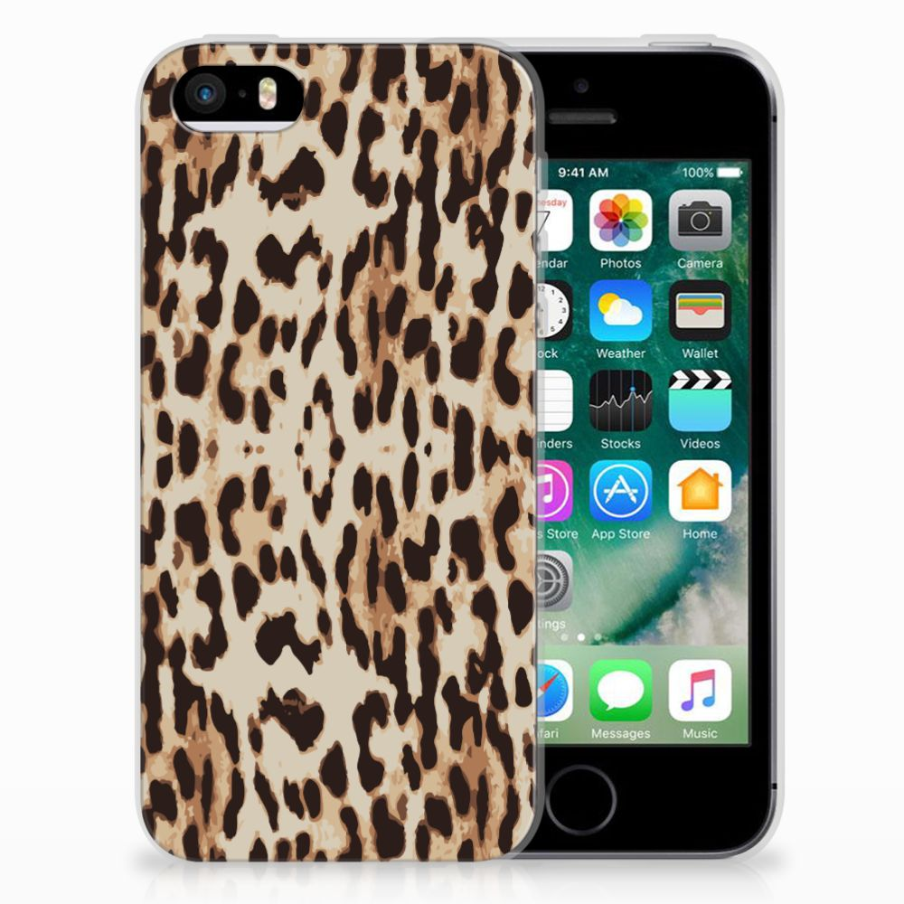 Apple iPhone SE | 5S TPU Hoesje Leopard