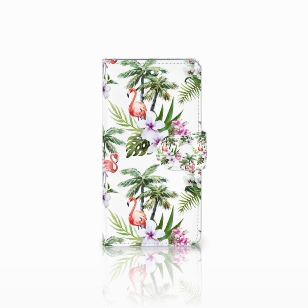 Wiko Harry Boekhoesje Design Flamingo Palms