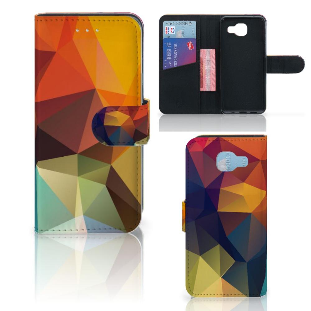 Samsung Galaxy A5 2016 Bookcase Polygon Color