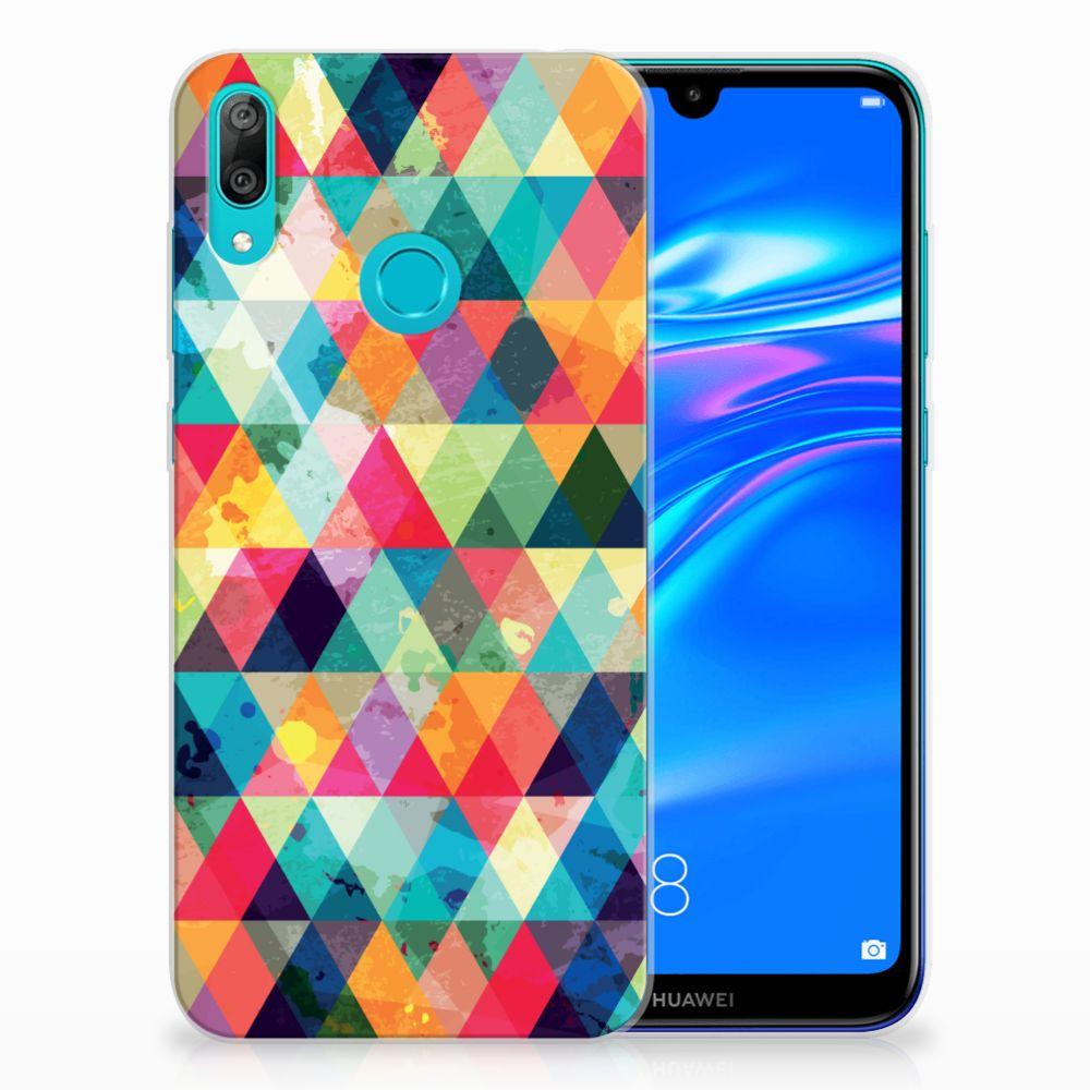 Huawei Y7 2019 TPU bumper Geruit