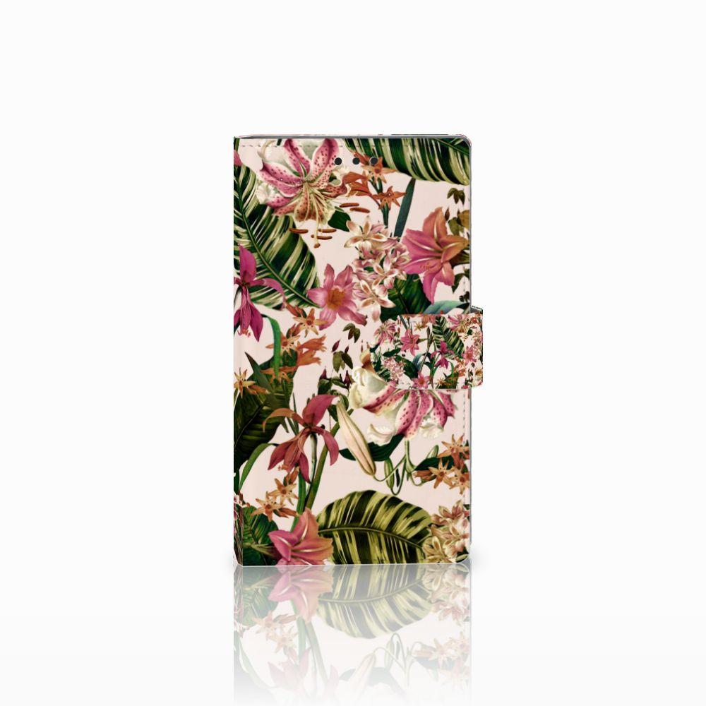Sony Xperia L2 Uniek Boekhoesje Flowers