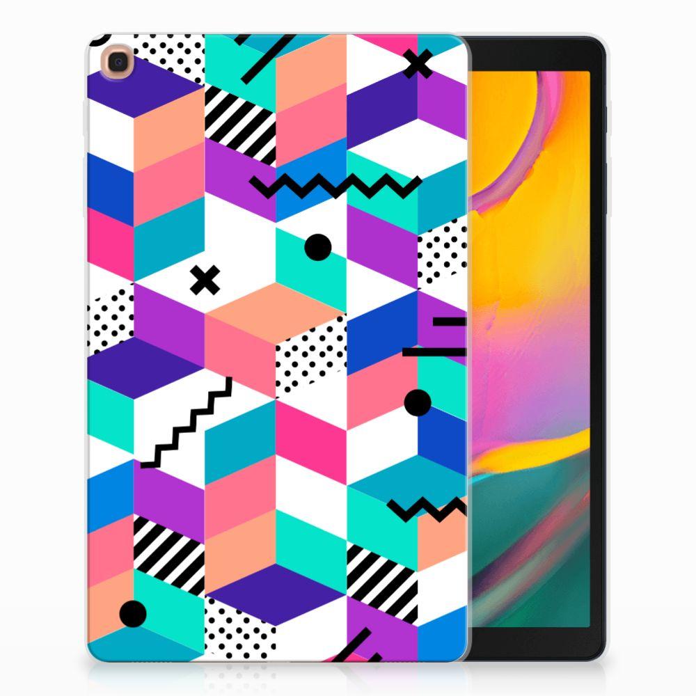 Samsung Galaxy Tab A 10.1 (2019) Back Cover Blokken Kleurrijk