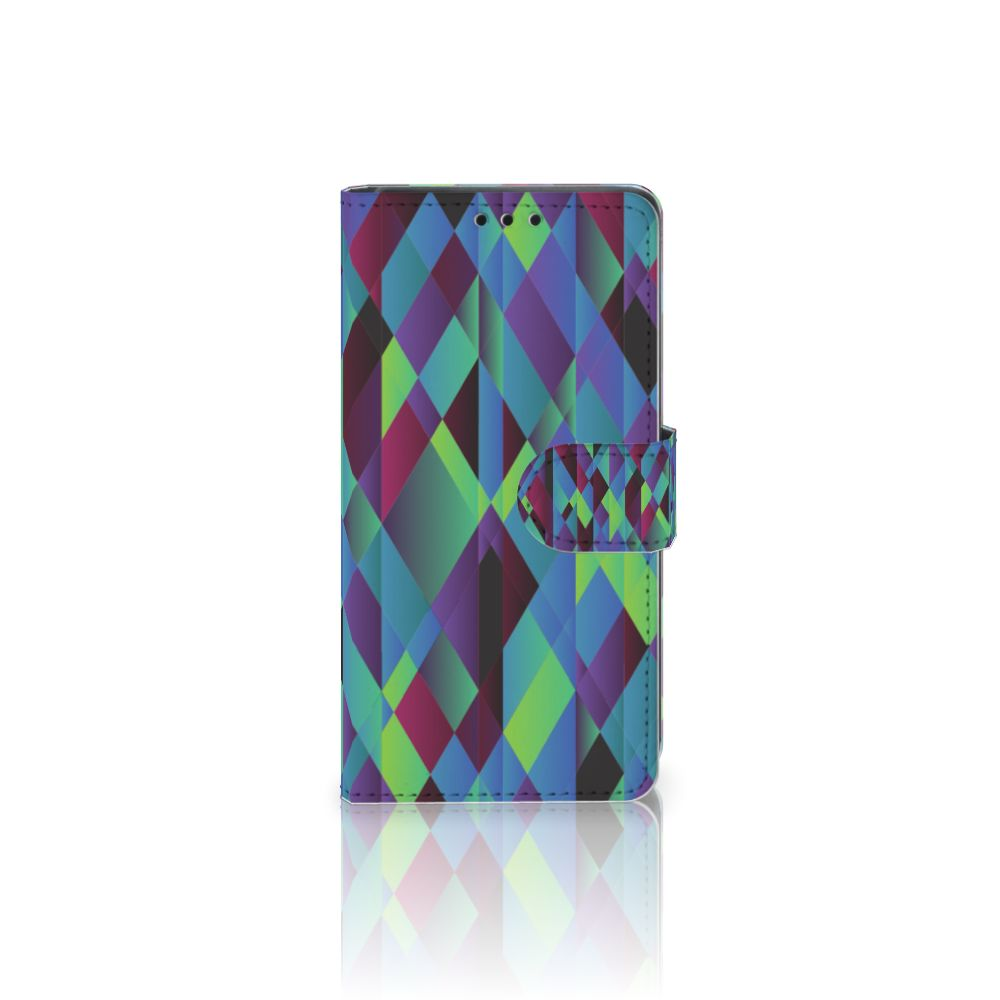Sony Xperia Z5 | Z5 Dual Boekhoesje Design Abstract Green Blue